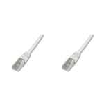 Digitus Patch Cable, UTP, CAT5E 7.0m networking cable White 7 m