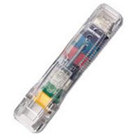 Rapesco Supaclip 60 Transparent Plastic paperclip dispencer
