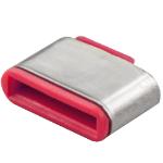 Lindy 40437 port blocker USB Type-C Pink 10 pc(s)