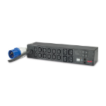 APC AP7822B 16AC outlet(s) 2U Black power distribution unit (PDU)