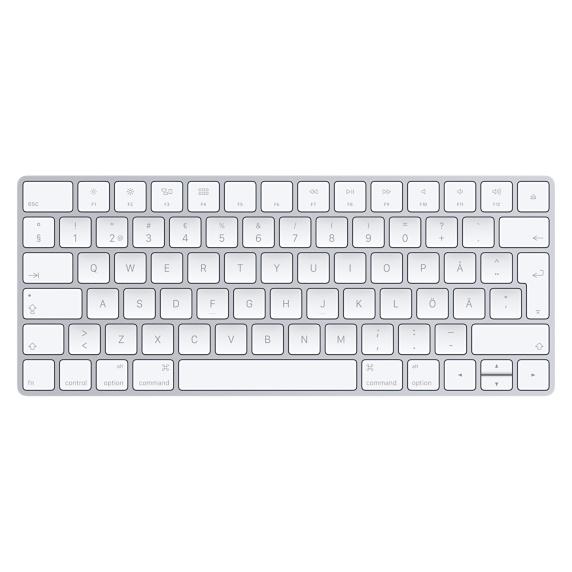 Apple Magic Keyboard Bluetooth QWERTY Swedish Silver, White
