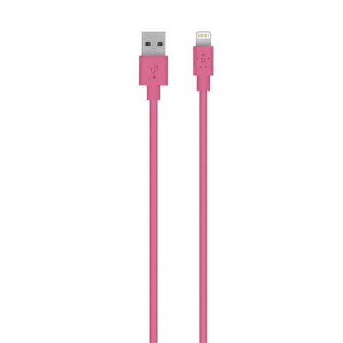Belkin 3m, Lightning - USB Pink