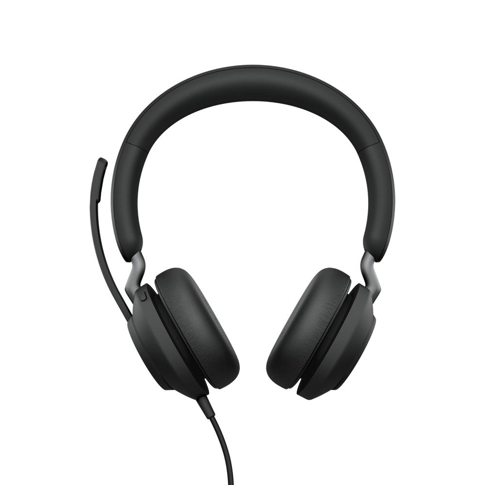Jabra Evolve2 40, UC Stereo Auriculares Diadema Negro
